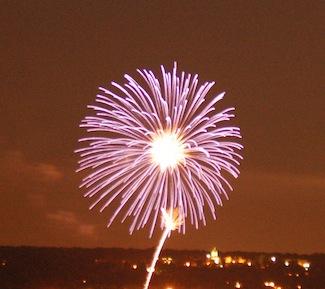 Why fireworks? Nyack 2009 Fireworks. Photo Credit: Dave Zornow