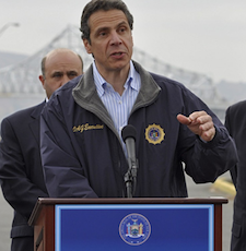 Governor Andrew Cuomo, in Tarrytown on 11/15/2010. Photo Credit: Andrea Bernstein, TransportationNation.org/WNYC