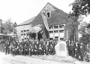 Civil War Veterans at Unveiling of the Lincoln Boulder
