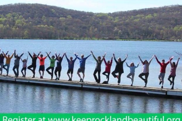 Keep Rockland Beautiful, Yoga Tree Pose, Mother's Day, Rockland Lake