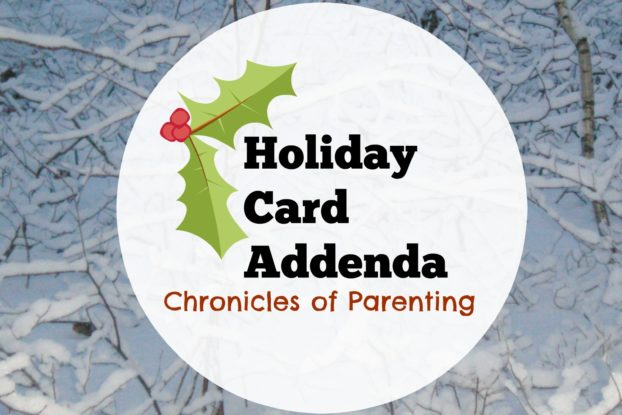Holiday Card Addenda